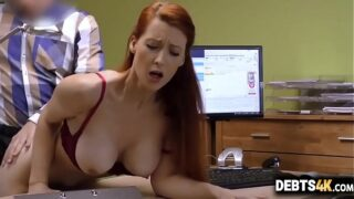 Big-tit redhead whore gives sex for cash -Isabella Lui